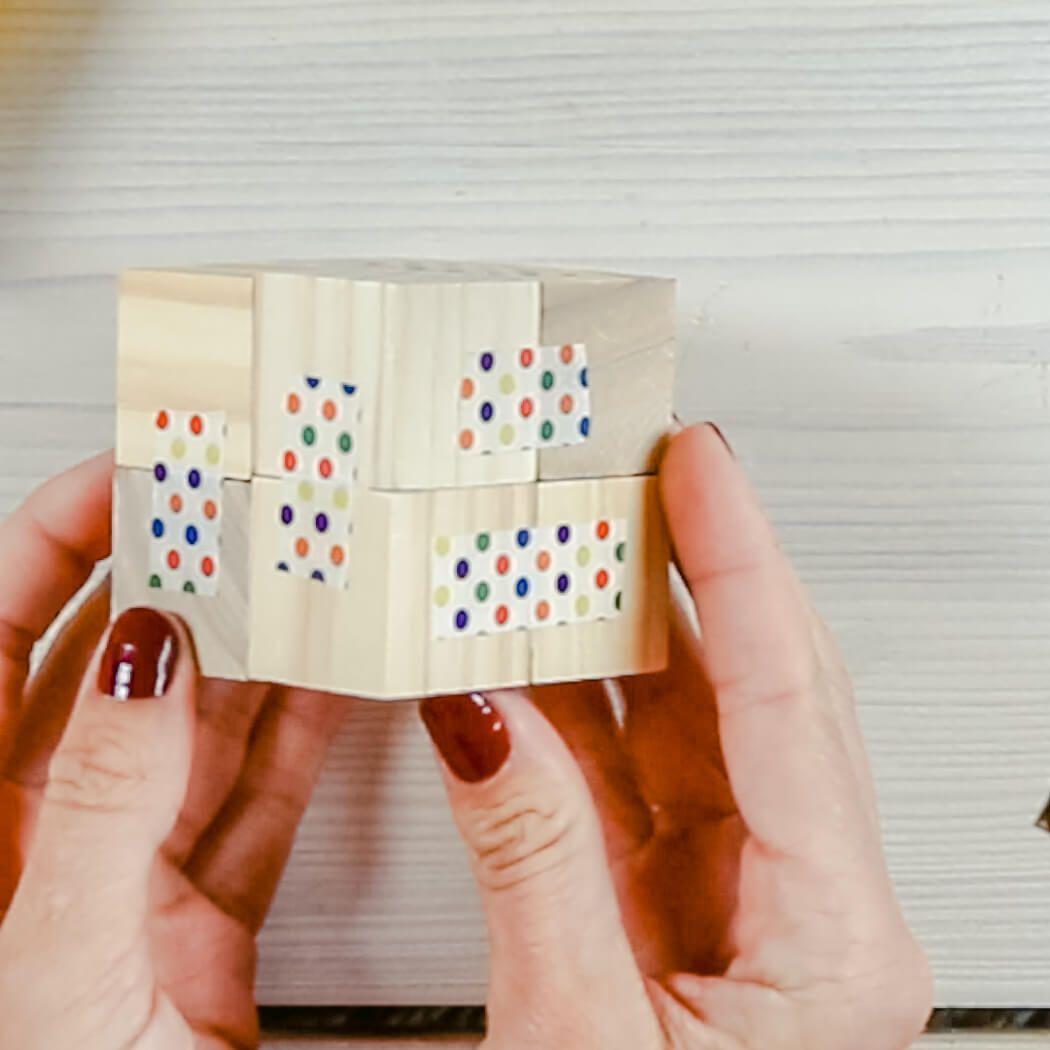 DIY Fotowürfel selber machen - Klappbarer Würfel als DIY Geschenkidee