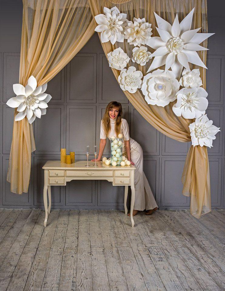 Large Paper Flowers Giant Flowers Paper Flower Backdrop Wedding