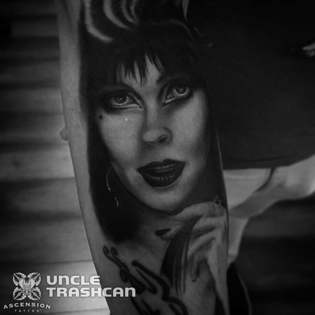 Elvira tattoo by uncle trashcan orlando fl www