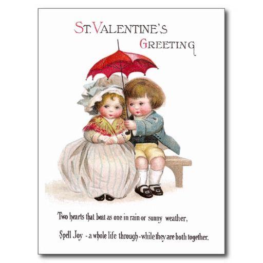De Vintage Valentijnskaart van de Paraplu van Neat Wens Kaarten