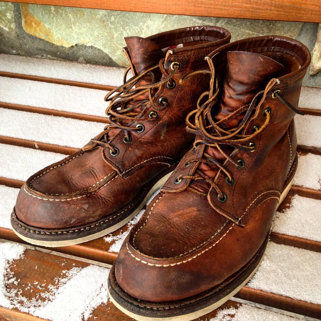 Moc toe boots, Red wing heritage boots