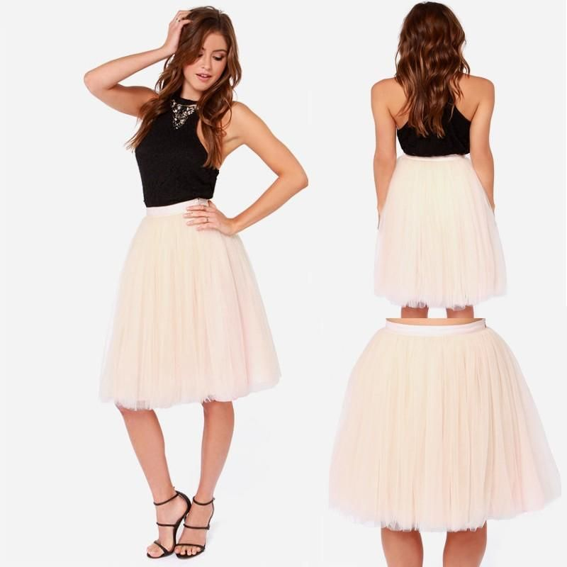 Adult Formal Tulle Skirts Knee Length Short Party Wear Puffy Custom