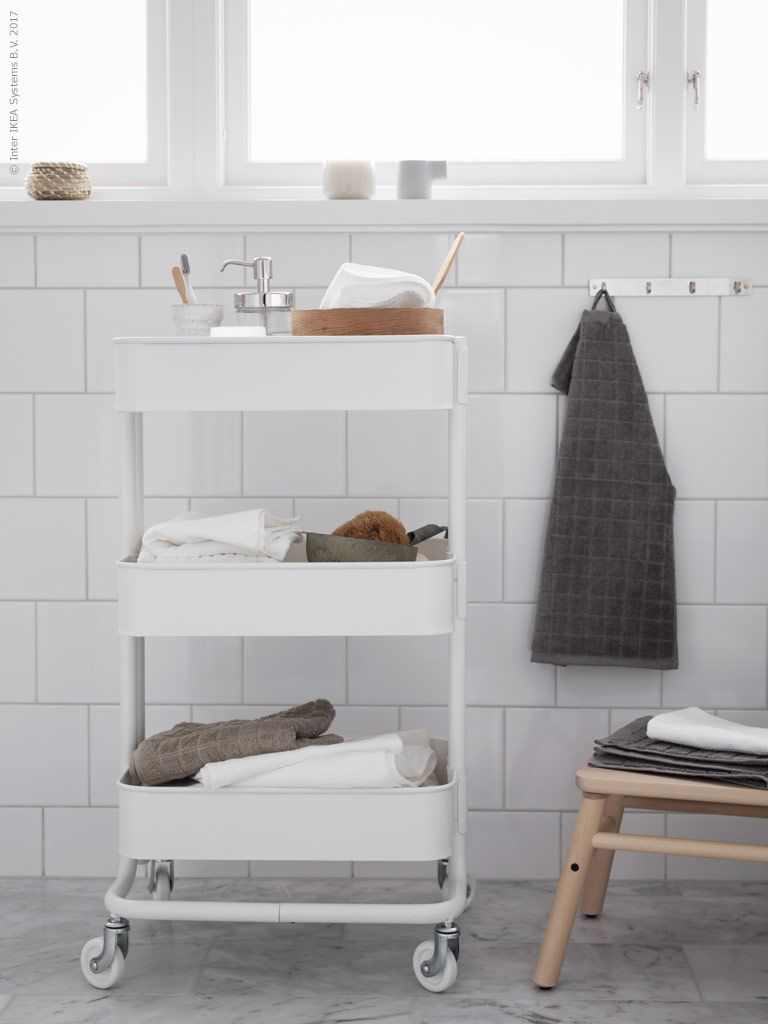 Unser Raskog Servierwagen Passt Nicht Nur In Die Kuche Sondern Ist Auch Eine Super Aufbewahrungslosung Natural Bathroom Natural Home Decor Bathroom Inspiration