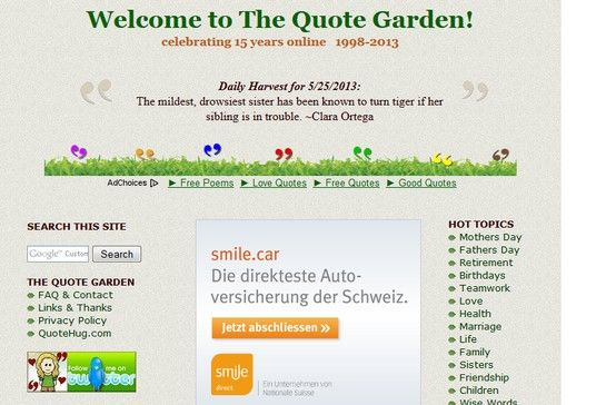 The Quote Garden  Quote Sites