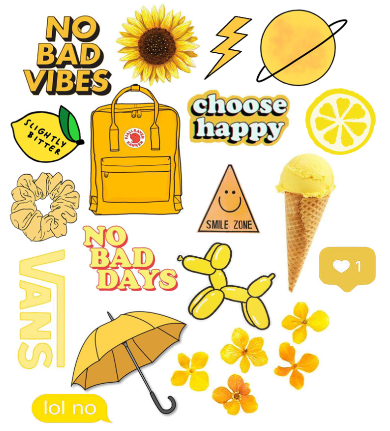 Yellow Stickers Iphone Case Stickers Tumblr Stickers Homemade