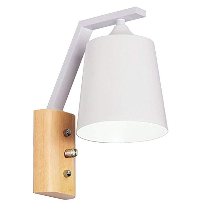 Amazon Com Dimmable Wall Sconce Nordic Solid Wood Flush Mount Bedroom Wall Light Simple Macarons Backgro Wall Lights Bedside Reading Light Wall Lights Bedroom
