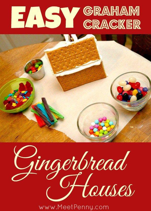 5 Easy to Make Gingerbread Houses Graham cracker