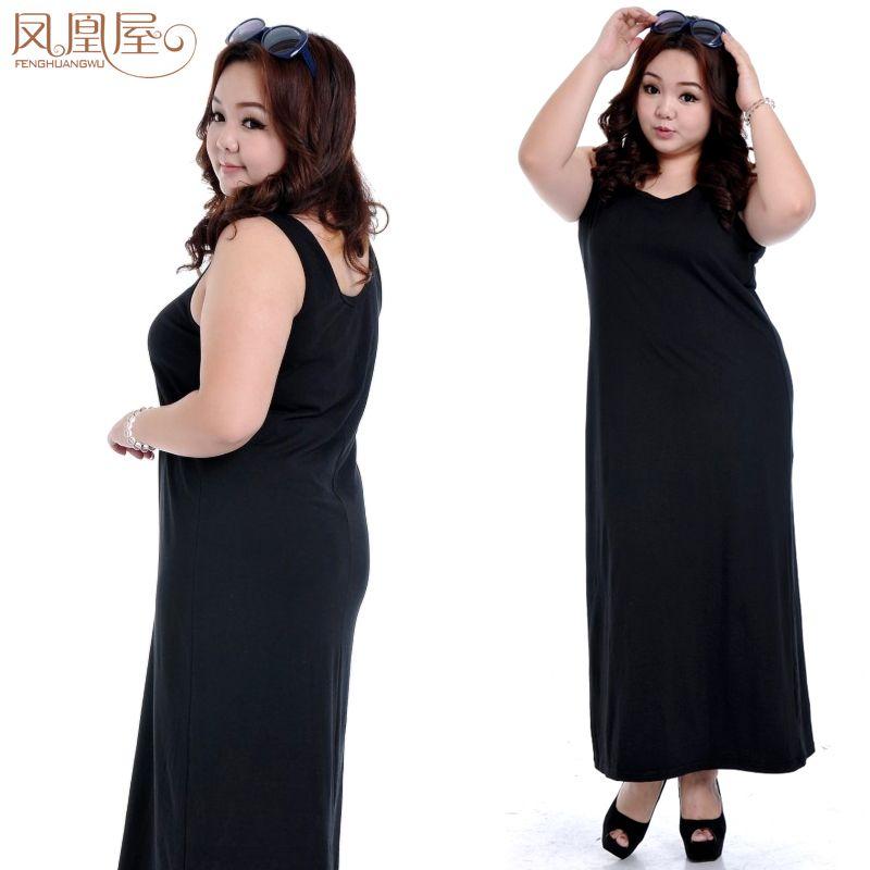 free shipping plus size women Spring summer one-piece dress fashion tank full long maxi dress xxl xxxl