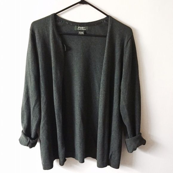 Eddie Bauer cotton cashmere large cardigan sweater In great condition Eddie Bauer Sweaters Cardigans