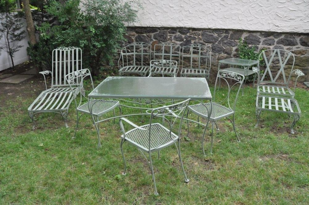woodard andalusian buy it now on ebay vintage wrought iron patio furniture pinterest wrought iron iron and iron patio furniture