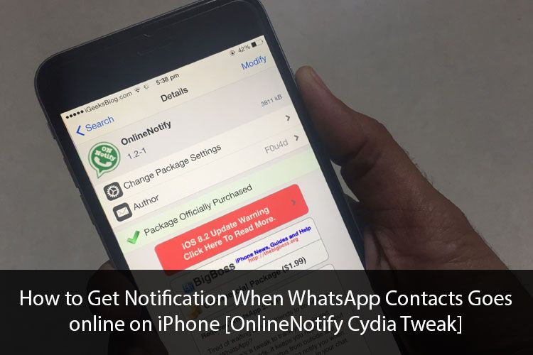 Get Notification When WhatsApp Contacts Goes online on