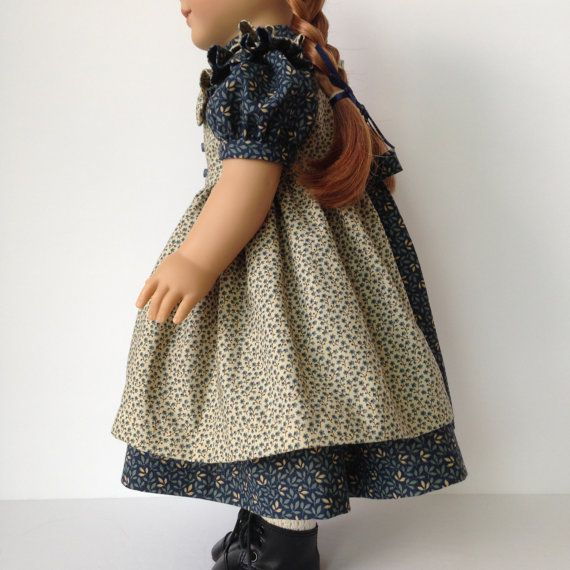 American Girl Doll Prairie Dress with Pinafore