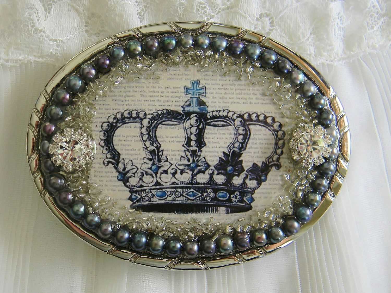 Women's Belt Buckle Vintage Crown