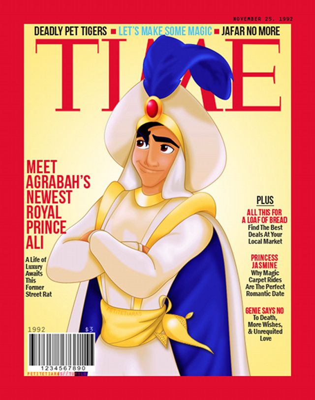 Aladdin on the cover of TIME