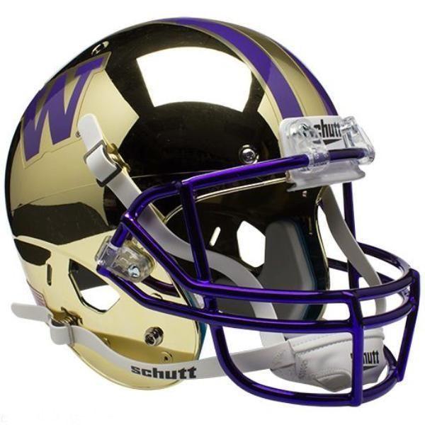 Washington Huskies Schutt Xp Mini Helmet Chrome Gold Football Helmets Mini Football Helmet College Football Helmets