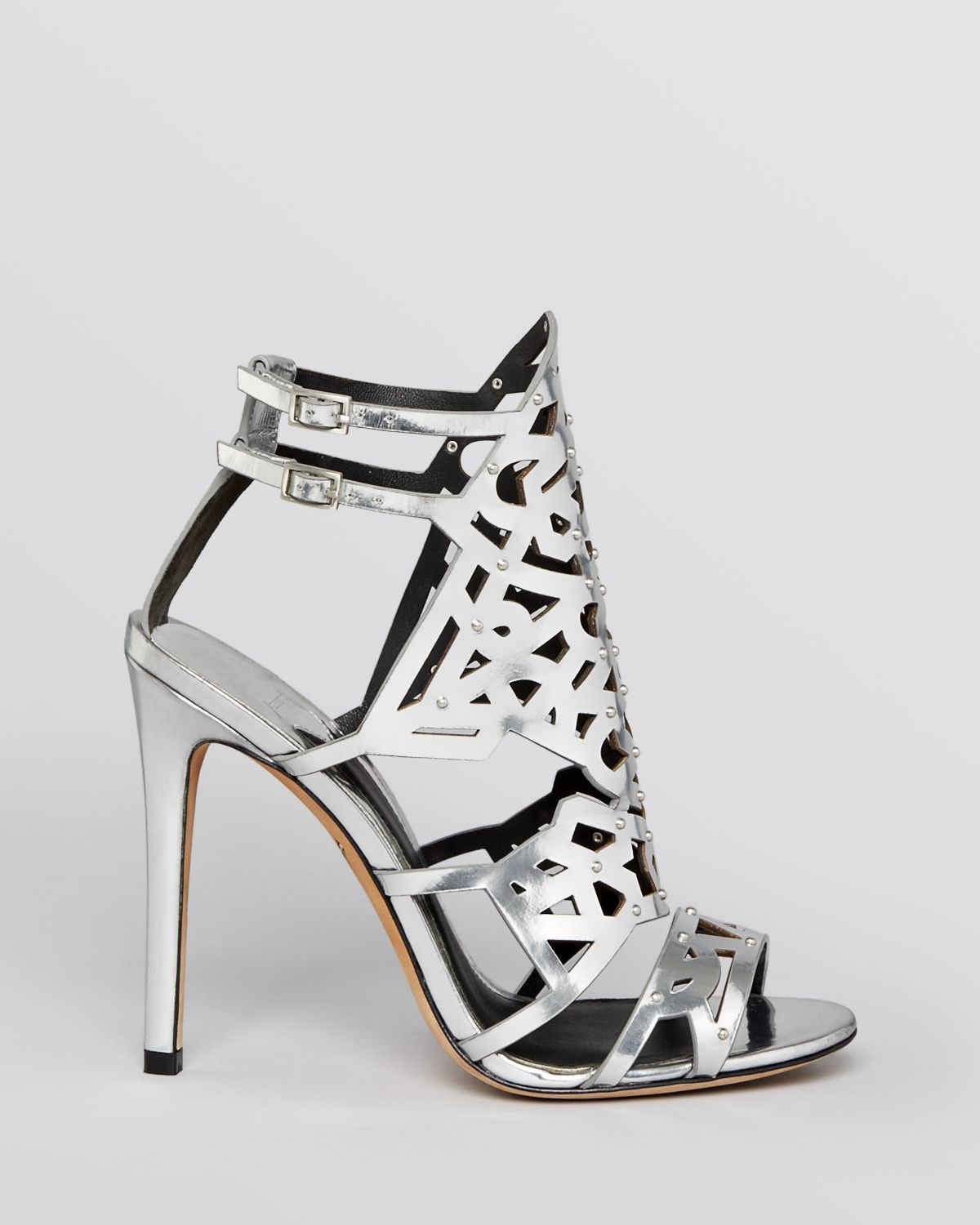 B Brian Atwood Evening Sandals Laconica High Heel in Silver | Lyst