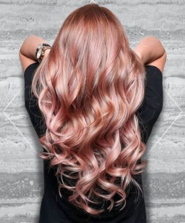 Image result for rose gold hair color
