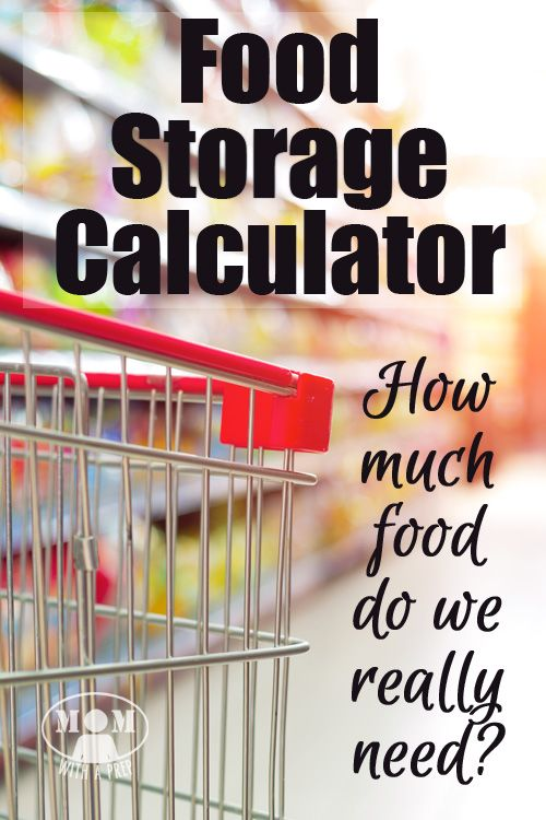 Food Storage Calculator How Much Food Do You Really Need