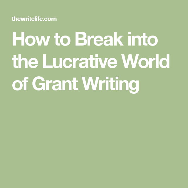 Grant Writing Can Be Lucrative. Here's How To Become A