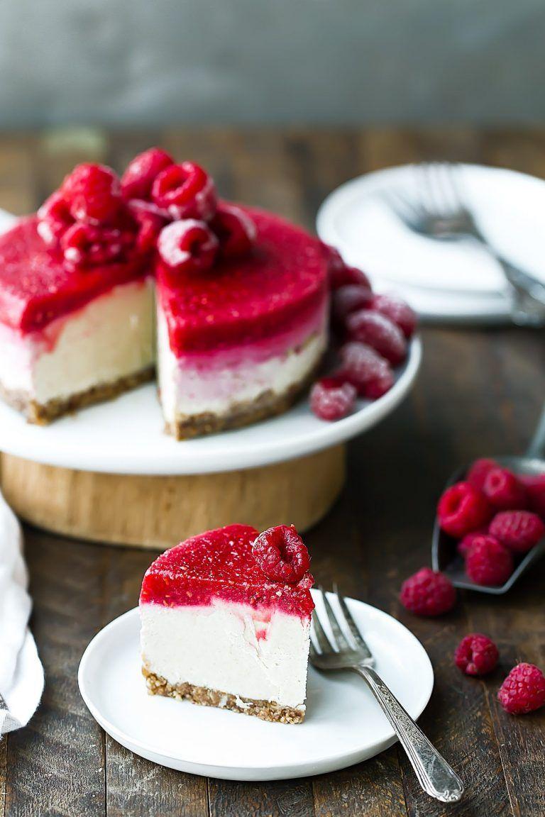 Easy Vegan Raspberry Cheesecake Recipe Raspberry