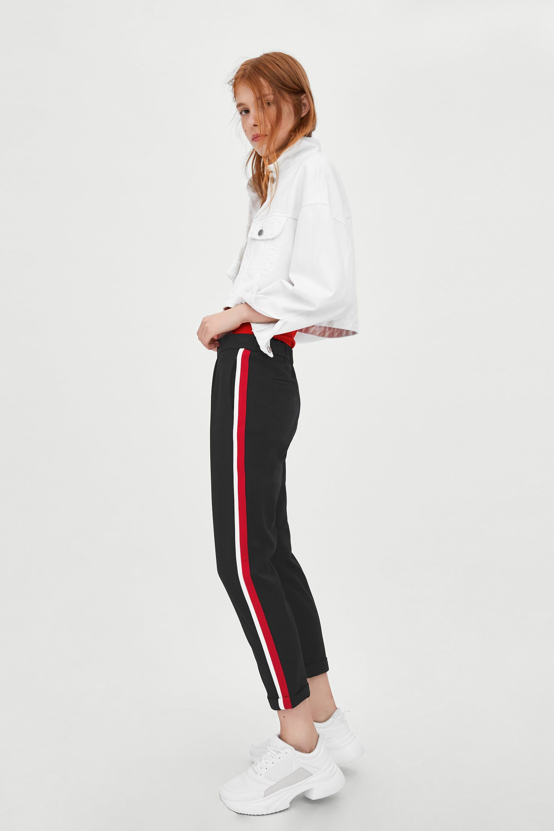 add6a4f0 Image 4 of PANTS WITH SIDE STRIPE from Zara | a LooK | Pants ...