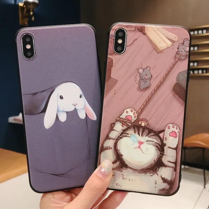 iPhone 7 Plus Cute Catoon Pocket