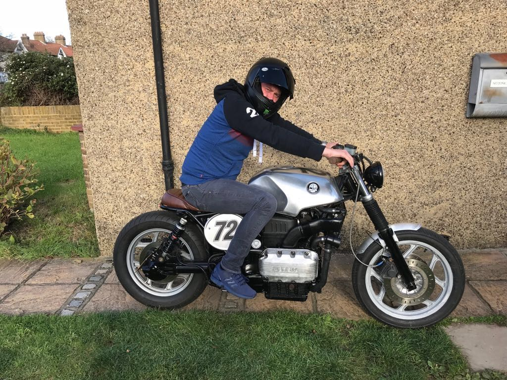 BMW K75 inspired vintage motorcycle classic bike shirt tshirt