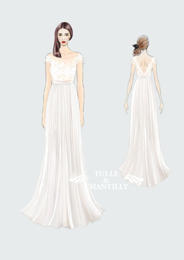 Design Your Own Wedding Dress} Gorgeous Customized Long Chiffon ...