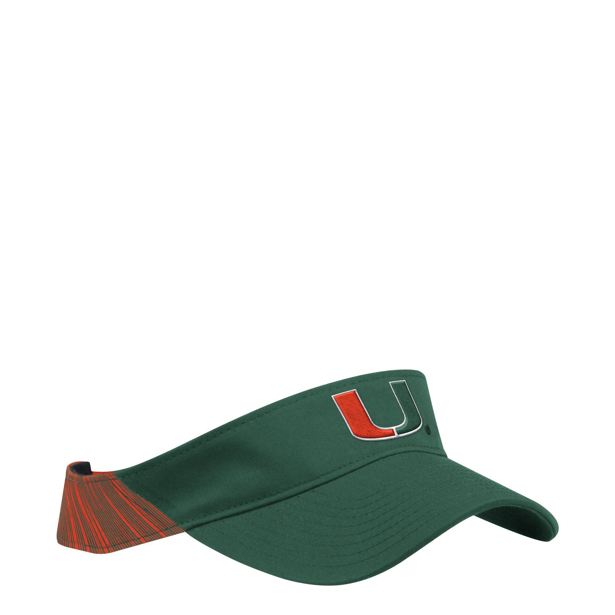 promo code 07a1f 12be3 Miami Hurricanes adidas 2018 Coaches U Adjustable Visor - Green Orange