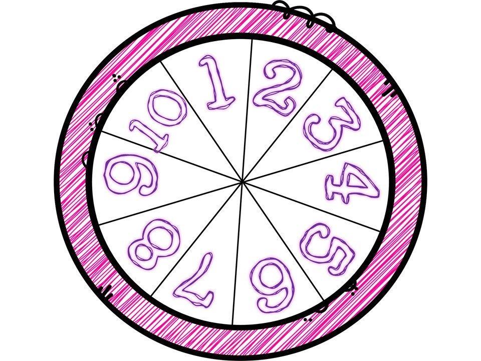 Ruletas Matematicas Para Trabajar Los Numeros Del 1 Al 10