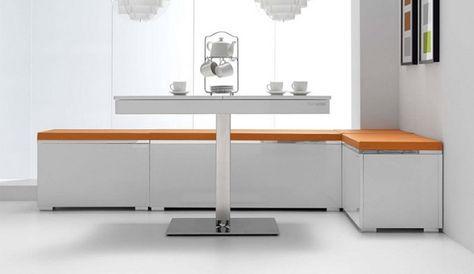 Bancos esquineros para la cocina | Mesa esquina | Pinterest | Banco ...