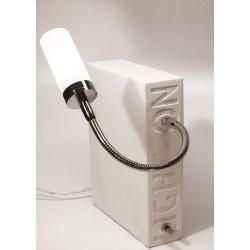 Photo of Top Light Light On Tischleuchte weiß-nickelmatt Silk weiß Top Light