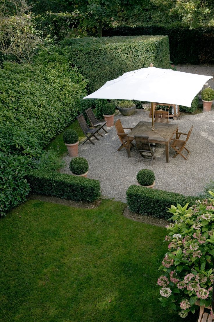 I Love A Very Low Wall Of Privet Hedge At The Outer Edge Of The Patio