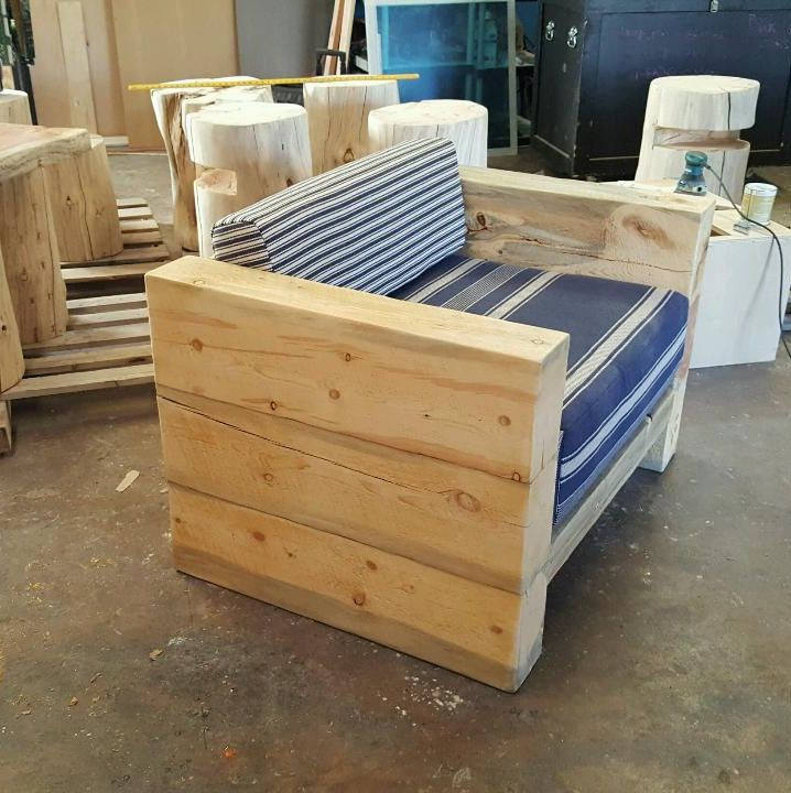 Patio Chair Railroad Tie Chair Timber Chair Perfect For Heavy Duty Patio Seating Restaurants Etc Made From L Railroad Ties Patio Chairs Timber Furniture Heavy duty patio chairs