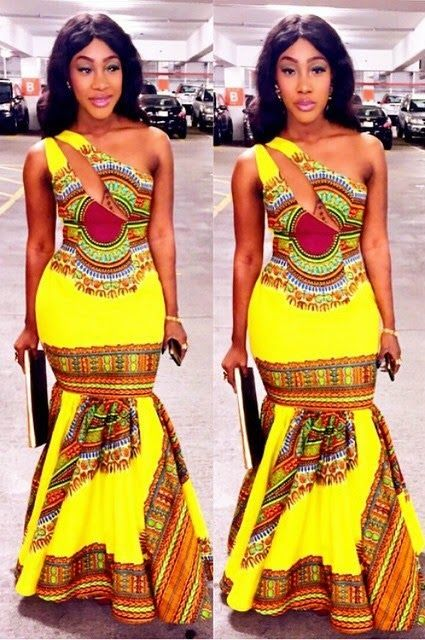 African Dashiki Ankara Creative Gown Style