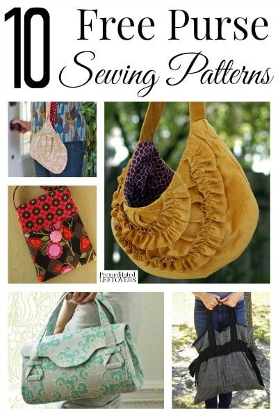 Here are 10 Free Purse Sewing Patterns that are perfect for making a ...