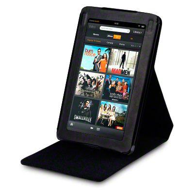 Jellibean | Amazon Kindle Fire PU Leather Wallet Case - Black Flip