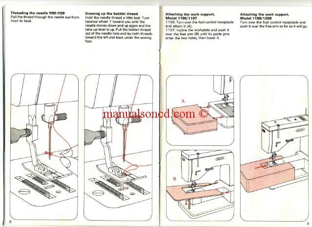 pfaff 1196 1197 1199 1209 sewing machine instruction manual rh pinterest com Pfaff Creative Sensation Pro Pfaff Creative Sensation Pro