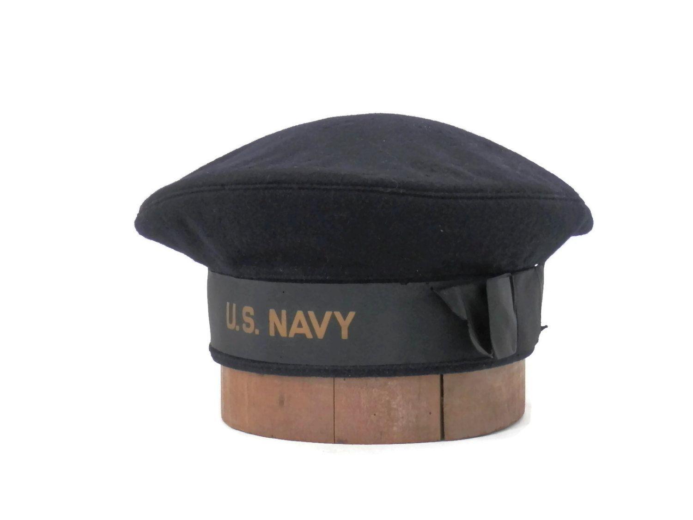 bac4e7bdd73962 WWII US Navy Donald Duck Uniform Cap/Hat Veteran Identified sz 7 1/8 by  bigbangzero on Etsy