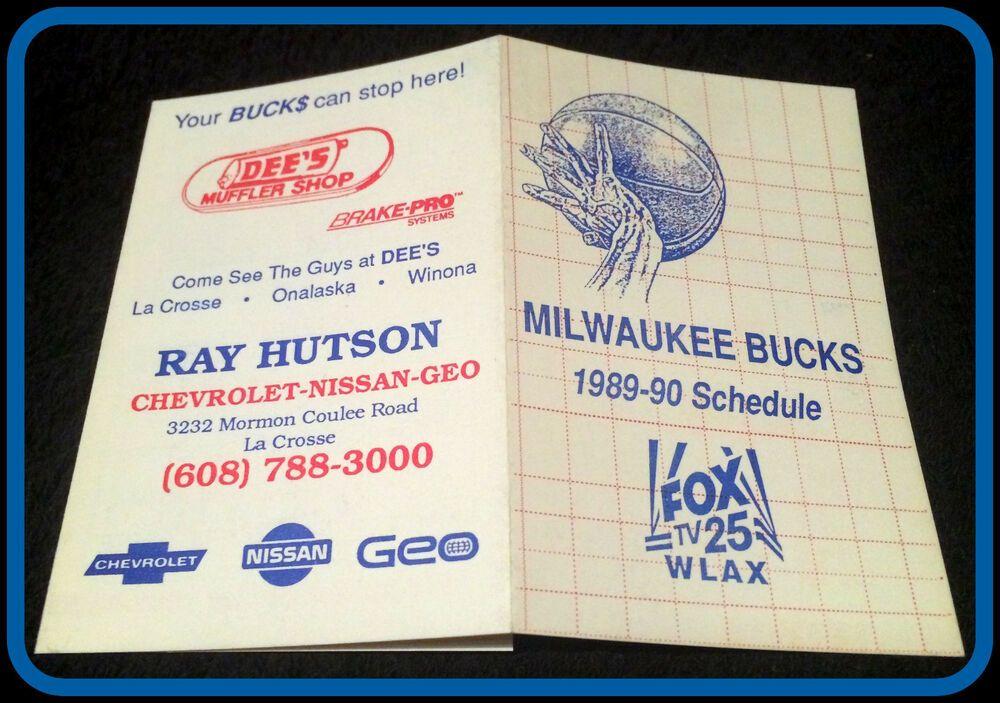 198990 MILWAUKEE BUCKS WLAX FOX TV 25 BASKETBALL POCKET