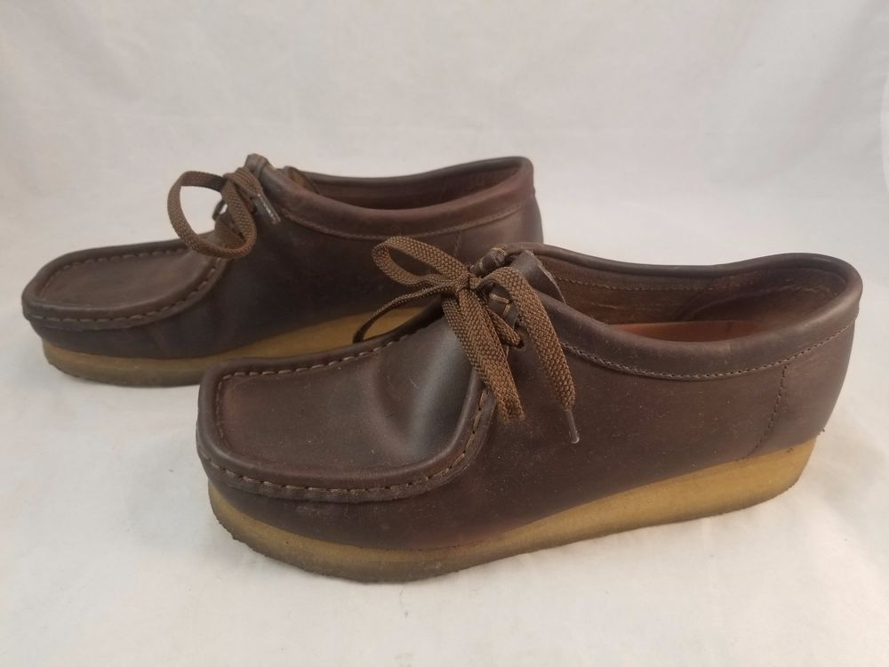 160f3f76 CLARKS ORIGINALS Womens Wallabee 38257 Shoes Brown Beeswax Leather 2 ...