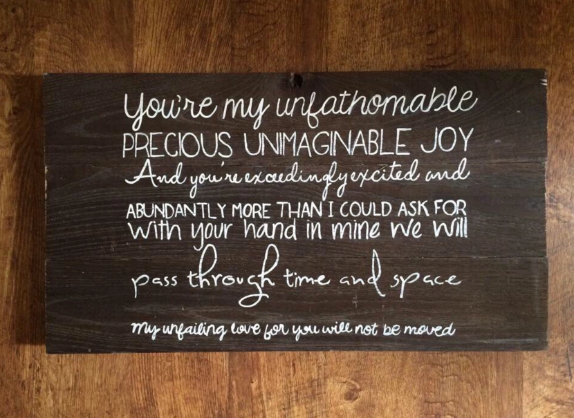 oceans lyrics barn wood christian home decor