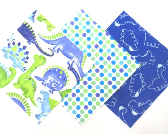 36 Flannel Fabric Pre Cut 6  x 6  Squares in Fun Dinosaur and Dot ... : pre cut flannel rag quilt kits - Adamdwight.com