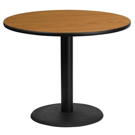 Flash Furniture 36 Inch Round Laminate Table Top With 24 Inch Round