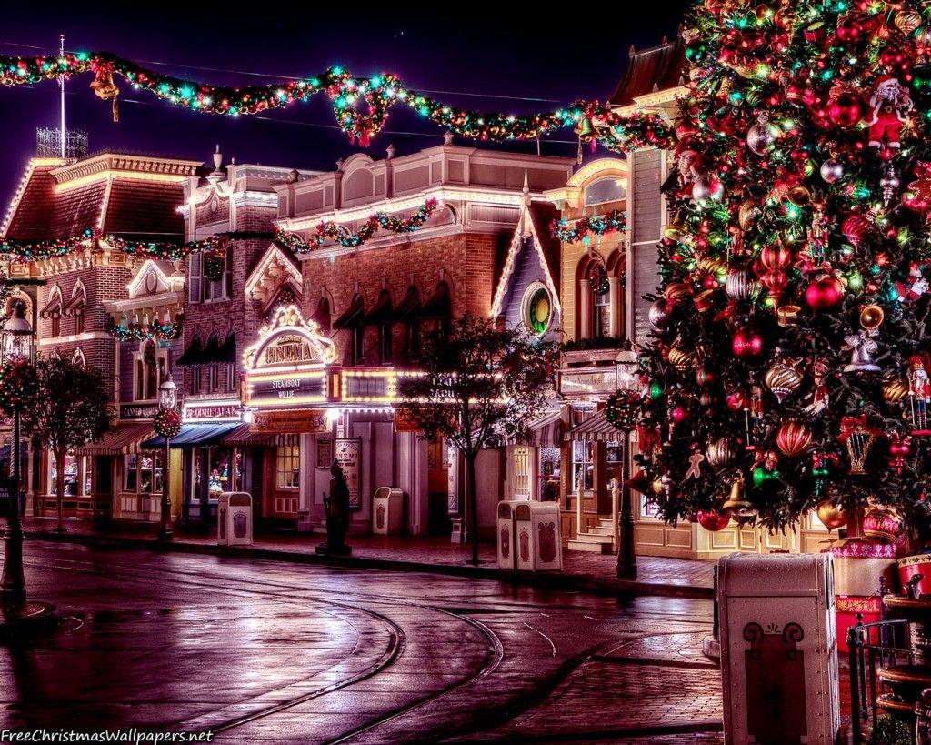 Christmas Desktop Wallpapers Browser Themes 2014 Disneyland Christmas Disney Christmas Christmas Town