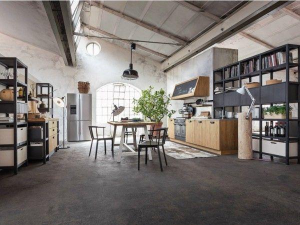 cucina-stile-industriale-callesella | Interior Design | Pinterest ...