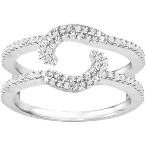 Halo Wrap Ring Guard Sterling Silver Ring Enhancer With 438 Ct