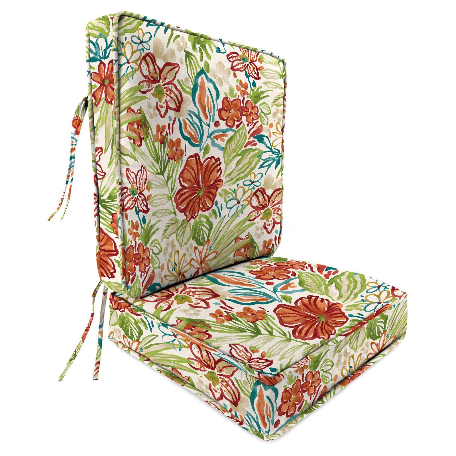 Jordan Manufacturing 22 5 In 2 Piece Deep Seat Outdoor Valeda Chair Cushion In 2021 Chair Cushions Jordan Manufacturing Outdoor Chair Cushions