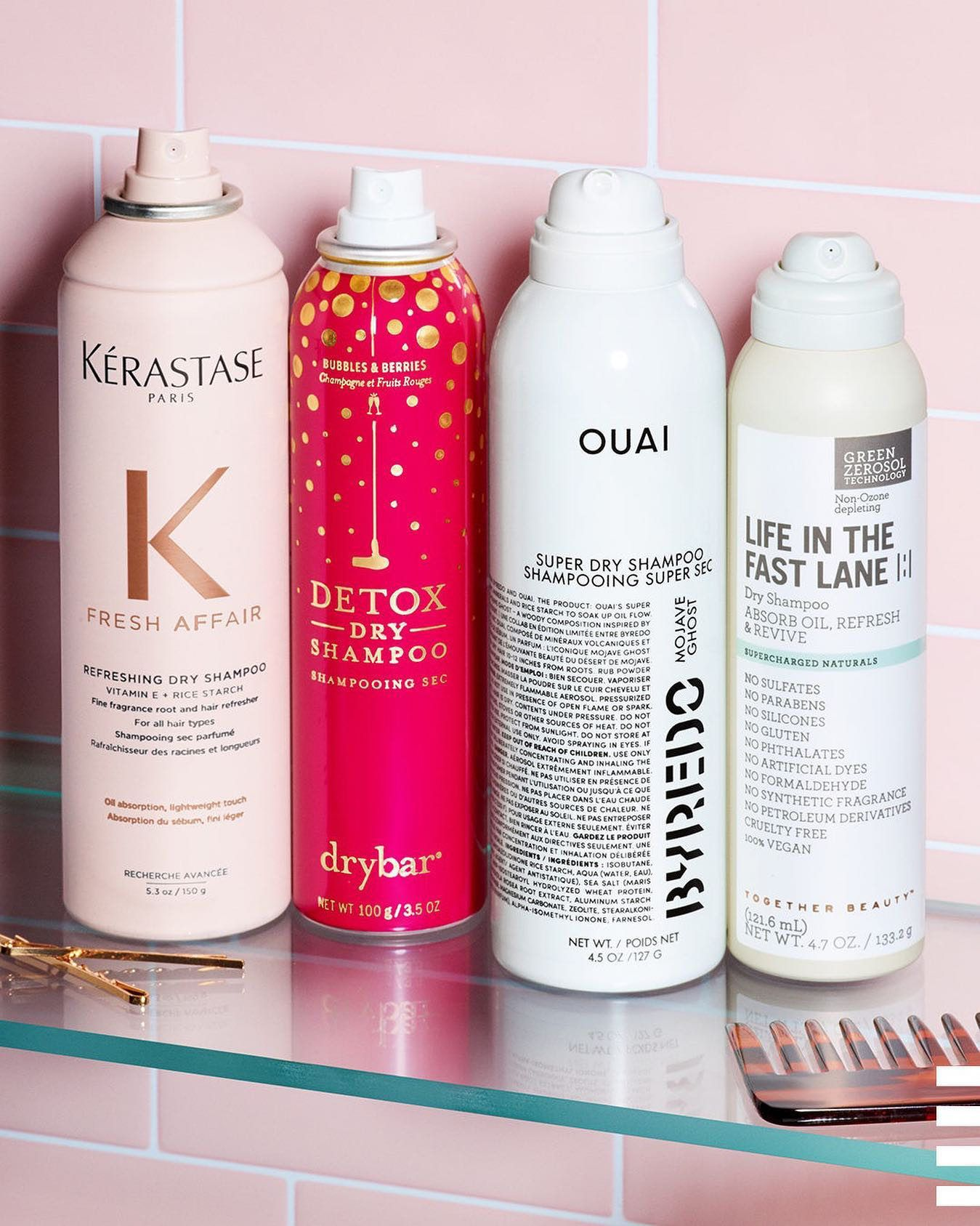 Let S Hear It For All The Dry Shampoos Dry Shampoo Makeup Tools Products Shampoo