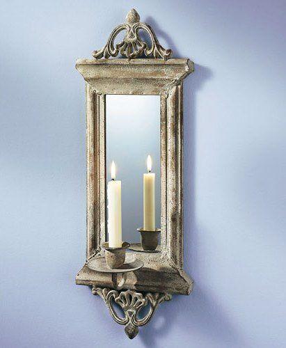Wand Kerzenhalter Mit Spiegel Kerze Dekoration Wanddeko